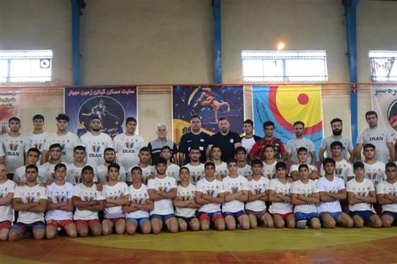 پنجمین مرحله اردوی تیم ملی کشتی فرنگی نوجوانان / تهران :