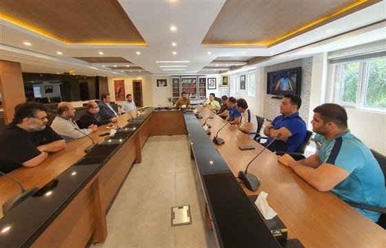 گزارش تصویری از حضور اعضای هیئت کشتی خوزستان در فدراسیون کشتی :