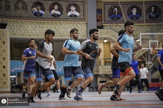 نخستین مرحله اردوی تیم ملی ملی کشتی فرنگی بزرگسالان / تهران :