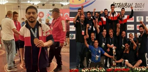 در پایان رقابت های کشتی فرنگی جوانان ناشنوایان قهرمانی جهان در ترکیه :